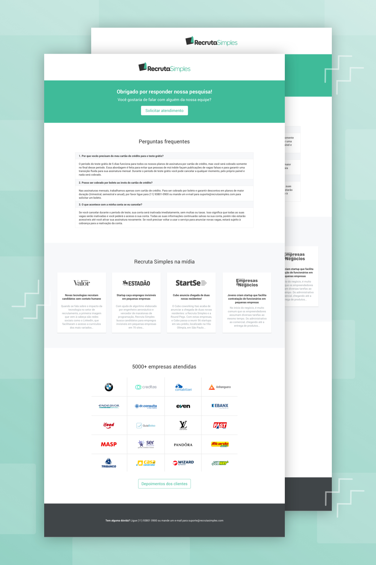 Landing page - Recruta Simples